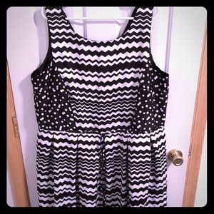 Black and White A Line Dress
